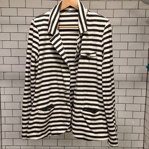 Tart Aja French Terry Striped Blazer Size L